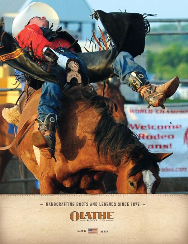 Olathe Boots Rodeo Magazine Ad