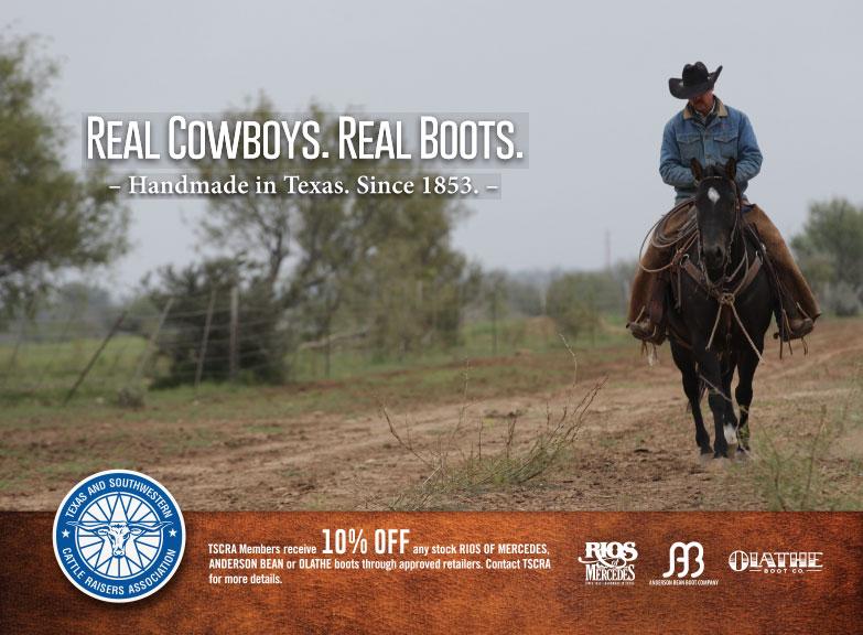 Olathe Boots TSCRA Calendar Ad